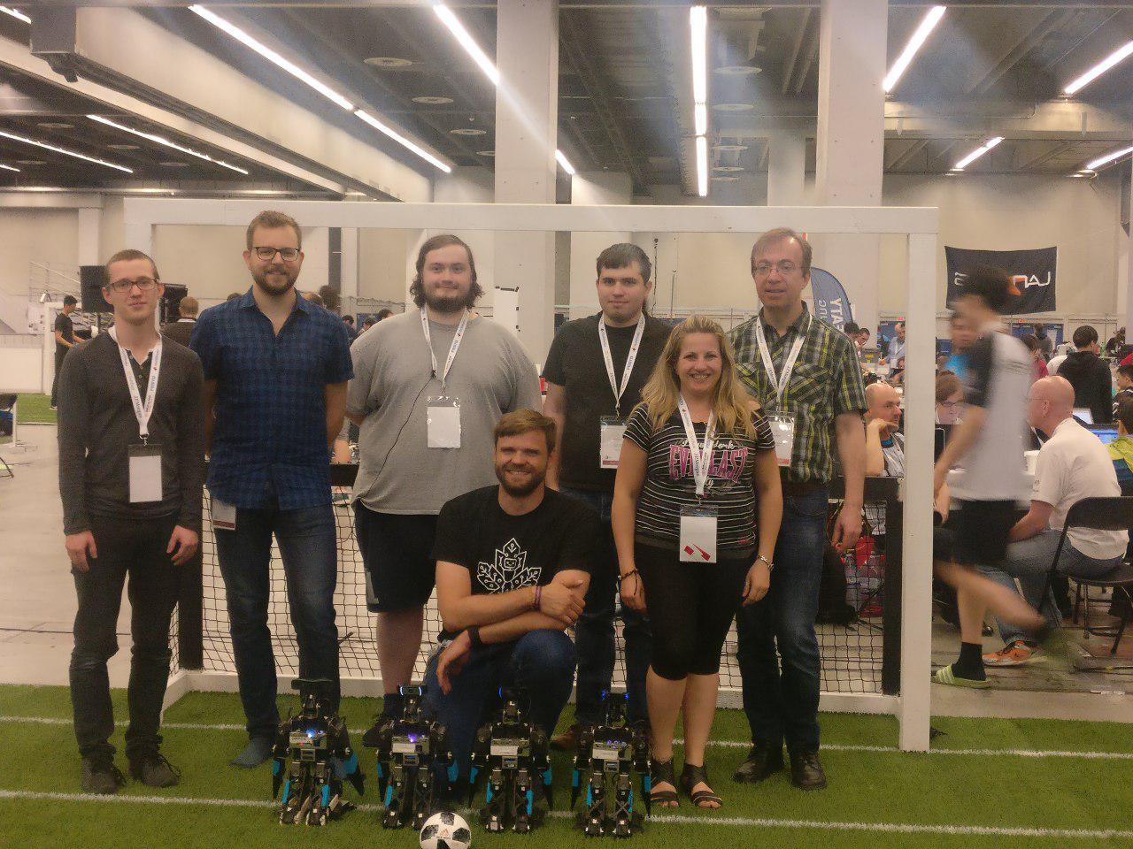 BoldHearts team at the RoboCup 2018 in Montréal / Canada